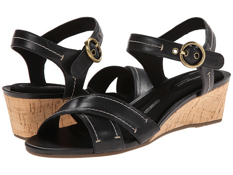 Rockport - Total Motion 55mm Quarter Strap (Black Smooth Casual) Women