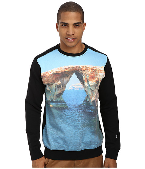 Volcom - Disorder Crew (Black) Men's Sweatshirt