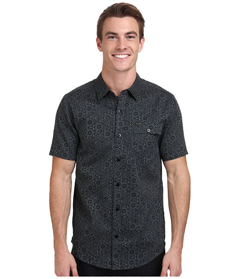 Volcom - Monroe S/S Woven (Dark Grey) Men