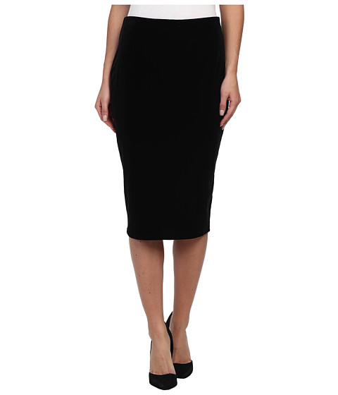 Vince Camuto - Knit Velvet Midi Tube Skirt (Rich Black) Women