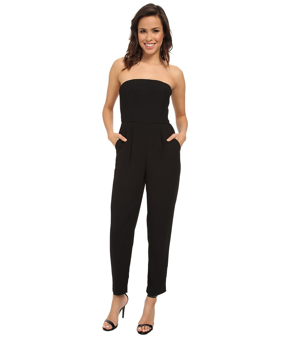 Vince Camuto - Strapless Jumpsuit (Rich Black) Women's Jumpsuit & Rompers One Piece