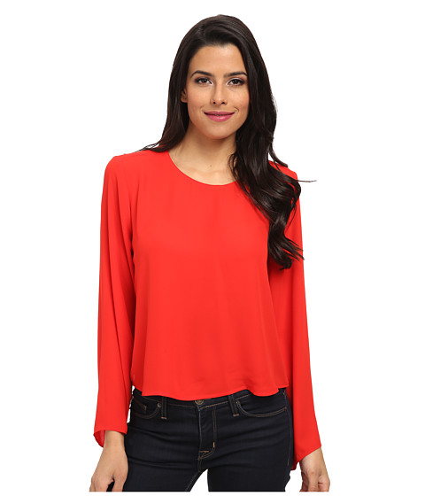 Vince Camuto - Bell Sleeve Crew Neck Blouse (Cherry) Women's Blouse