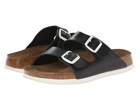 Birkenstock - Arizona Soft Footbed Super Grip (Black Leather) Shoes