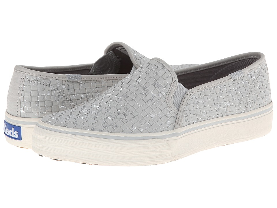 Keds - Double Decker Woven Canvas (Grey) Women's Slip on Shoes
