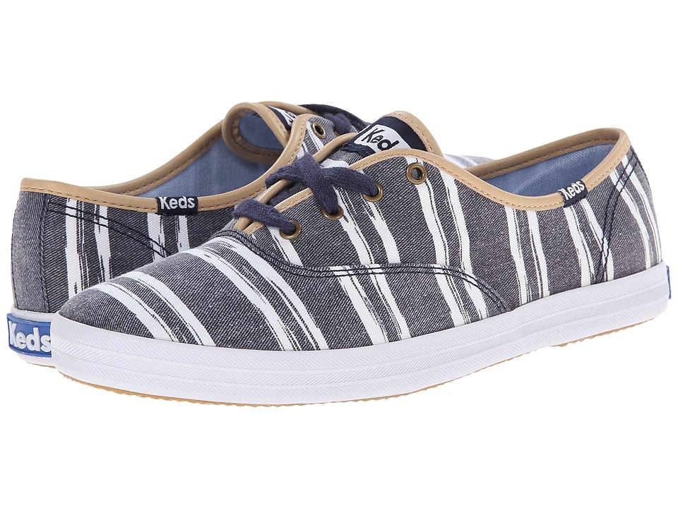 Keds - Champion Washed Beach Stripe (Navy) Women