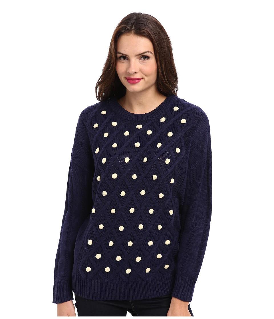 MINKPINK - Ready Or Not Knit Jumper (Blue/White) Women's Long Sleeve Pullover