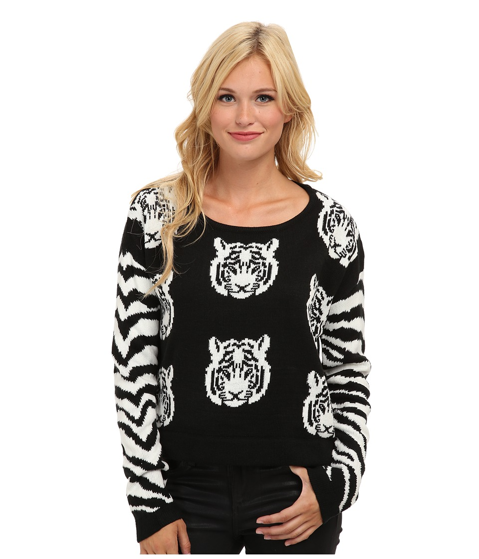 MINKPINK - Tiger Time Knit Jumper (Black/White) Women