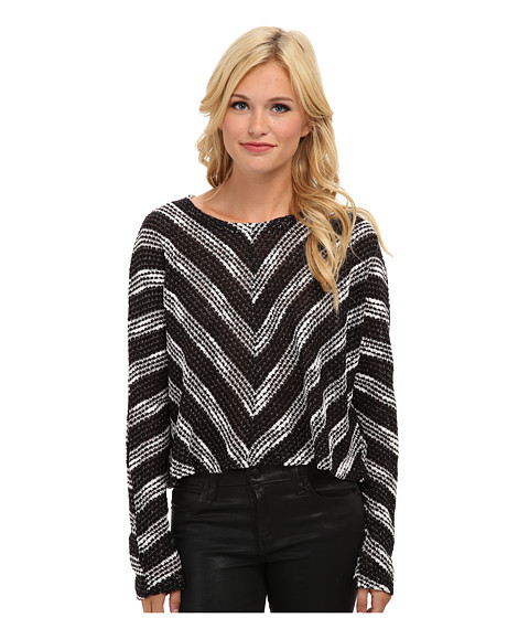 MINKPINK - Starry Night Knit Jumper (Black/White) Women's Sweater