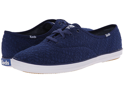 Keds - Champion Eyelet Seasonal Solid (Navy) Women