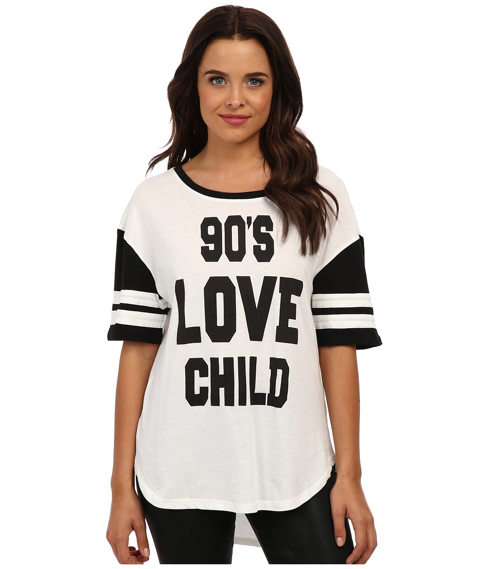 MINKPINK - 90s Love Child Tee (Black/White) Women's T Shirt