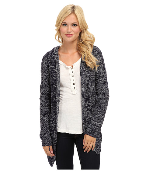 MINKPINK - Direct Hit Hooded Cardigan (Navy) Women