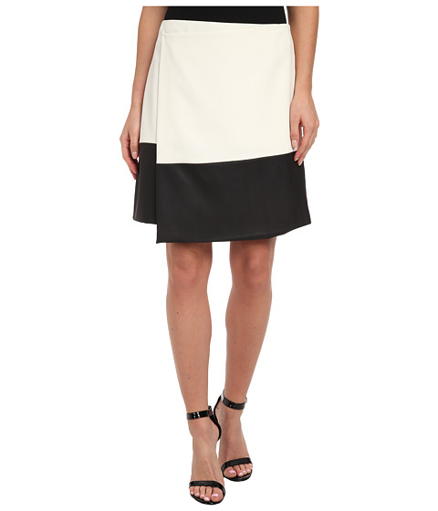 Vince Camuto - Wrap Skirt w/ Pleather Hem (Vanilla) Women's Skirt