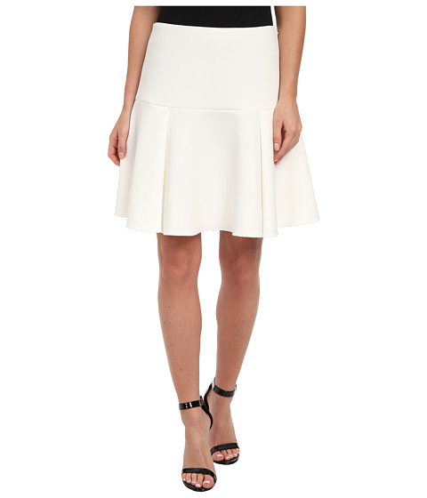 Vince Camuto - Side Zip Fit Flare Skirt (Vanilla) Women