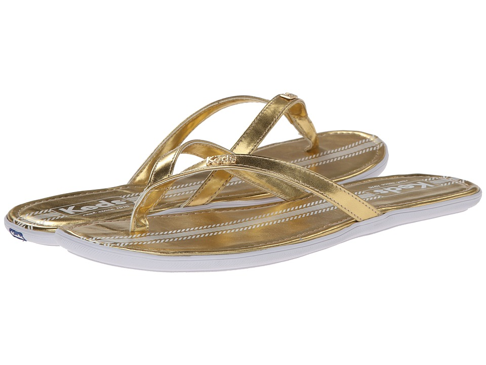 Keds - Tealight Thong Metallic (Gold) Women's Sandals