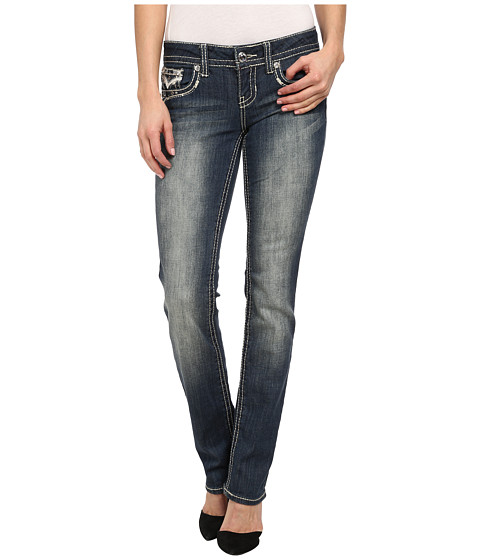 Antique Rivet - Juniors Straight Jeans in Graceland (Graceland) Women's Jeans