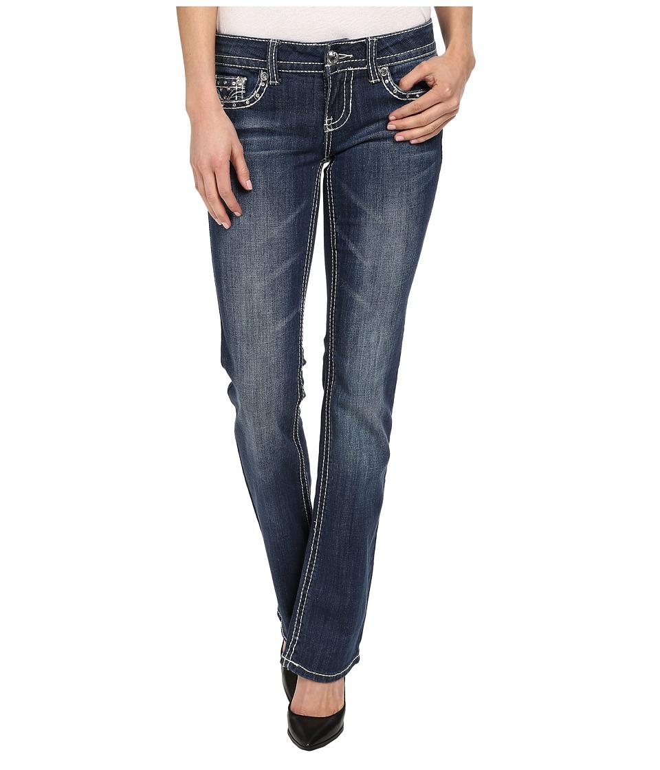 Antique Rivet - Juniors Slim Bootleg Jeans in Veruka (Veruka) Women