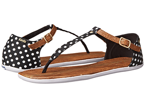 Keds - Tealight T-Strap Dot (Black) Women