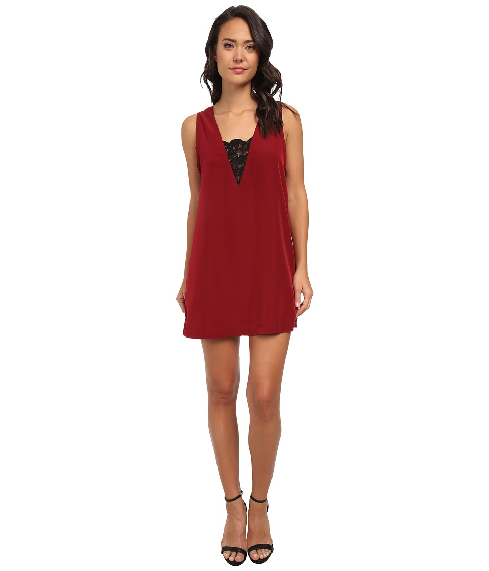 BB Dakota - Gracyn Dress (Dark Rose) Women's Dress