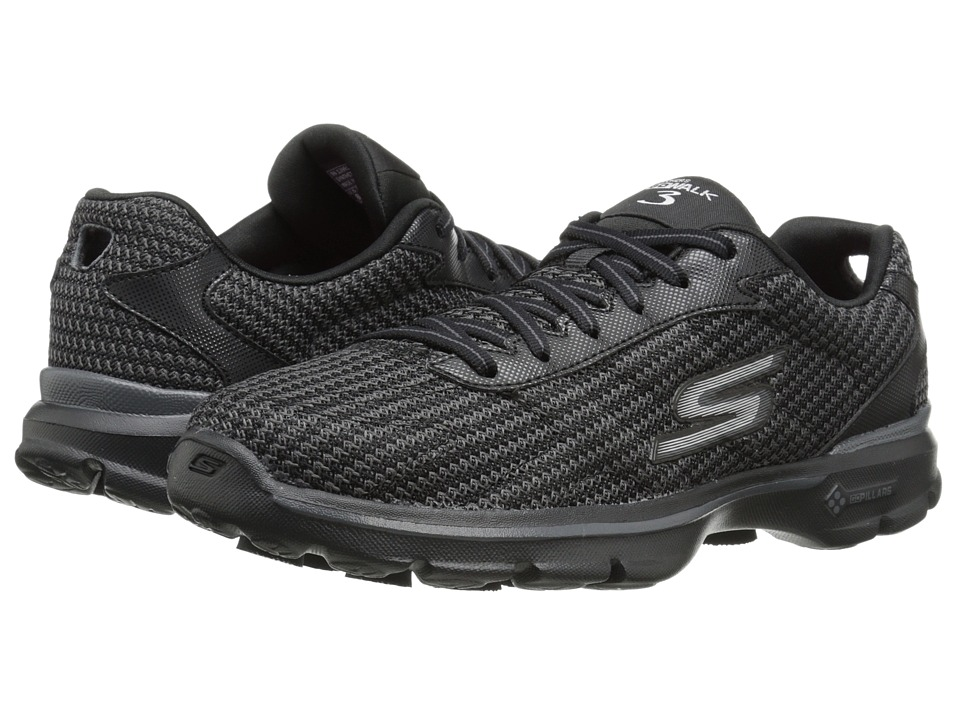 SKECHERS Performance - Go Walk 3 - Fit Knit (Black) Women's Shoes