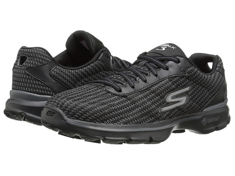SKECHERS Performance - GO Walk 3 - Fit Knit (Black) Women