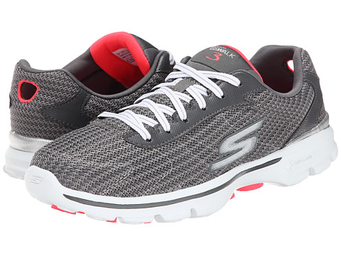 SKECHERS Performance - GO Walk 3 - Fit Knit (Charcoal) Women's Shoes