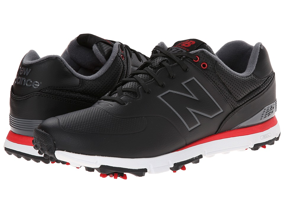 New Balance Golf - NBG574 (Black/Red) Men's Golf Shoes