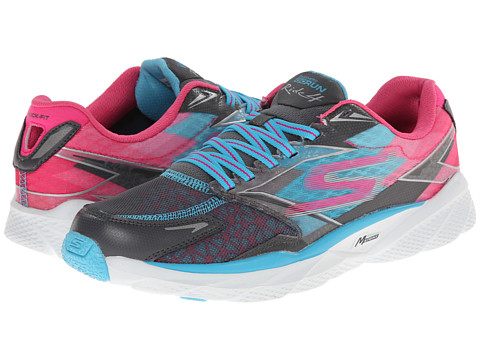 SKECHERS - GO Run Ride 4 (Charcoal/Blue) Women's Classic Shoes