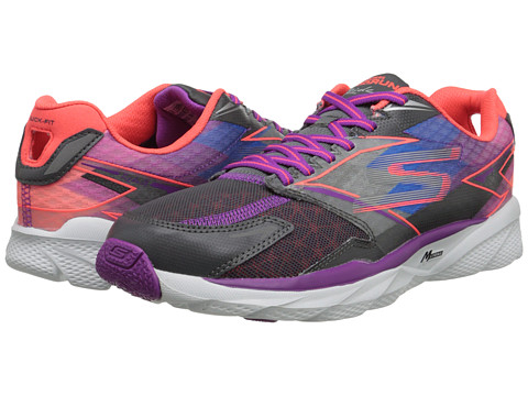 SKECHERS - GO Run Ride 4 (Charcoal/Purple) Women's Classic Shoes