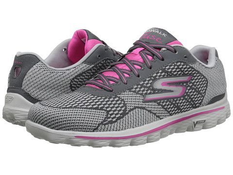 SKECHERS Performance - GO Walk 2 - Fuse (Charcoal/Pink) Women's Shoes