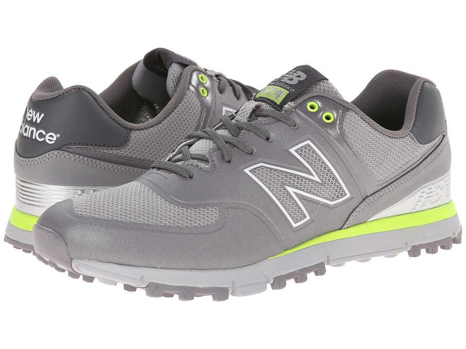 New Balance Golf - NBG574B (Grey/Yellow) Men's Golf Shoes