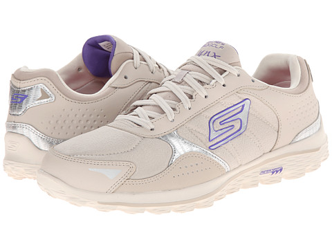 SKECHERS Performance - GO Walk 2 Golf - Lynx LT (Natural/Purple) Women's Shoes