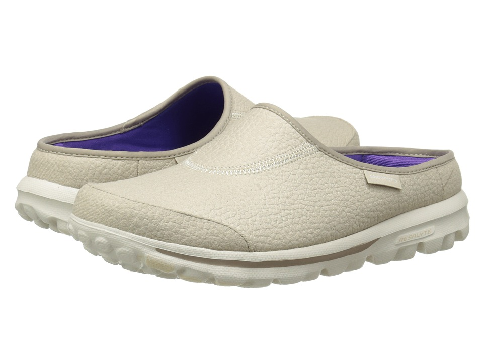 SKECHERS Performance - Go Walk - Free (Natural) Women's Slip on Shoes