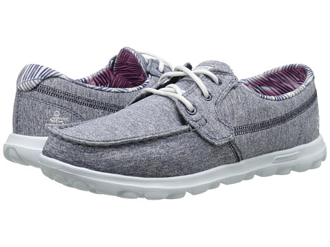 SKECHERS Performance - On The GO (Navy/White) Women's Shoes