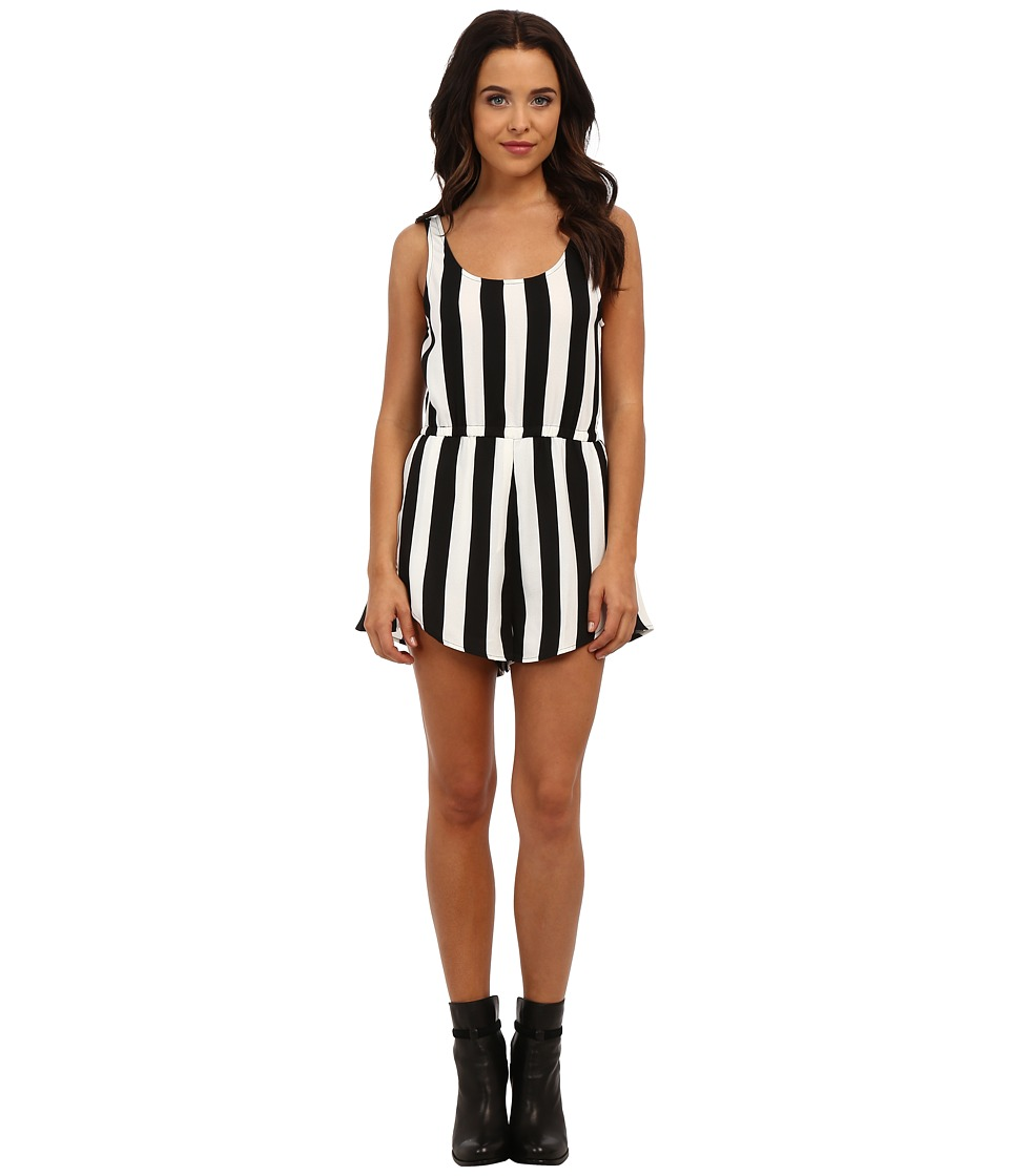 MINKPINK - All Down To You Playsuit (Black/White) Women's Jumpsuit & Rompers One Piece