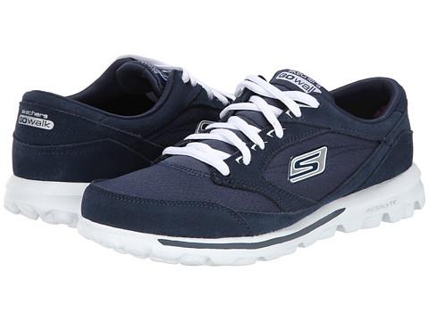 SKECHERS Performance - Go Walk- Rocket (Navy/White) Women's Slip on  Shoes