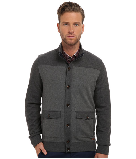 Ted Baker - Waltar L/S Button Through Cardigan (Grey Marl) Men's Sweater
