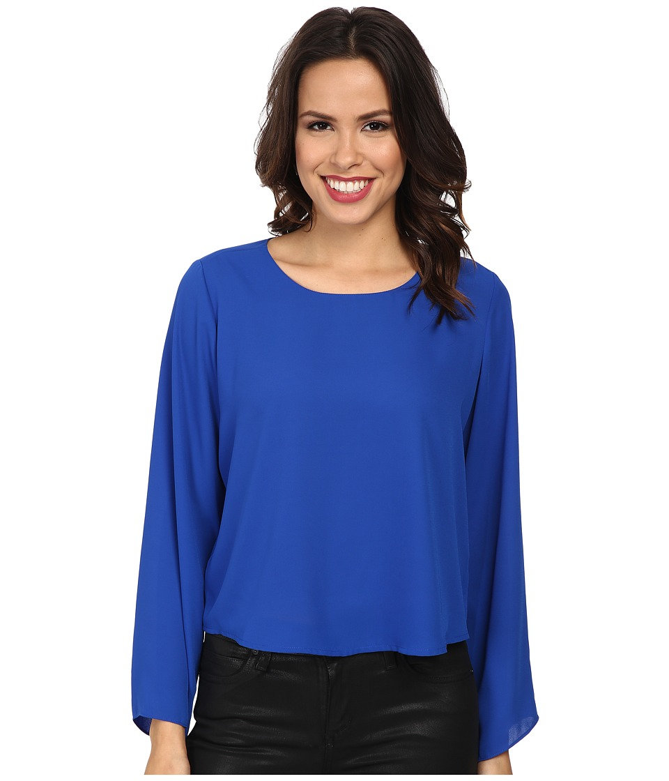 Vince Camuto - Bell Sleeve Crew Neck Blouse (Bright Blue) Women's Blouse