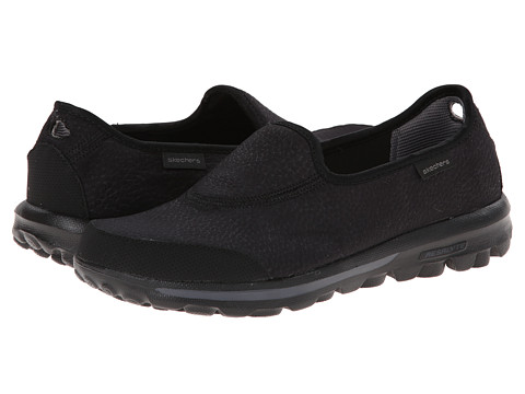 SKECHERS Performance - GO Walk - Aspire (Black) Women's Slip on Shoes