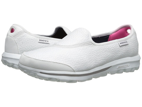 SKECHERS Performance - GO Walk - Aspire (White) Women's Slip on Shoes