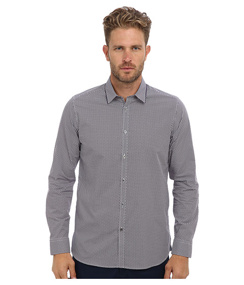 Ted Baker - Pickleo L/S Print Clear Tip Shirt (Purple) Men