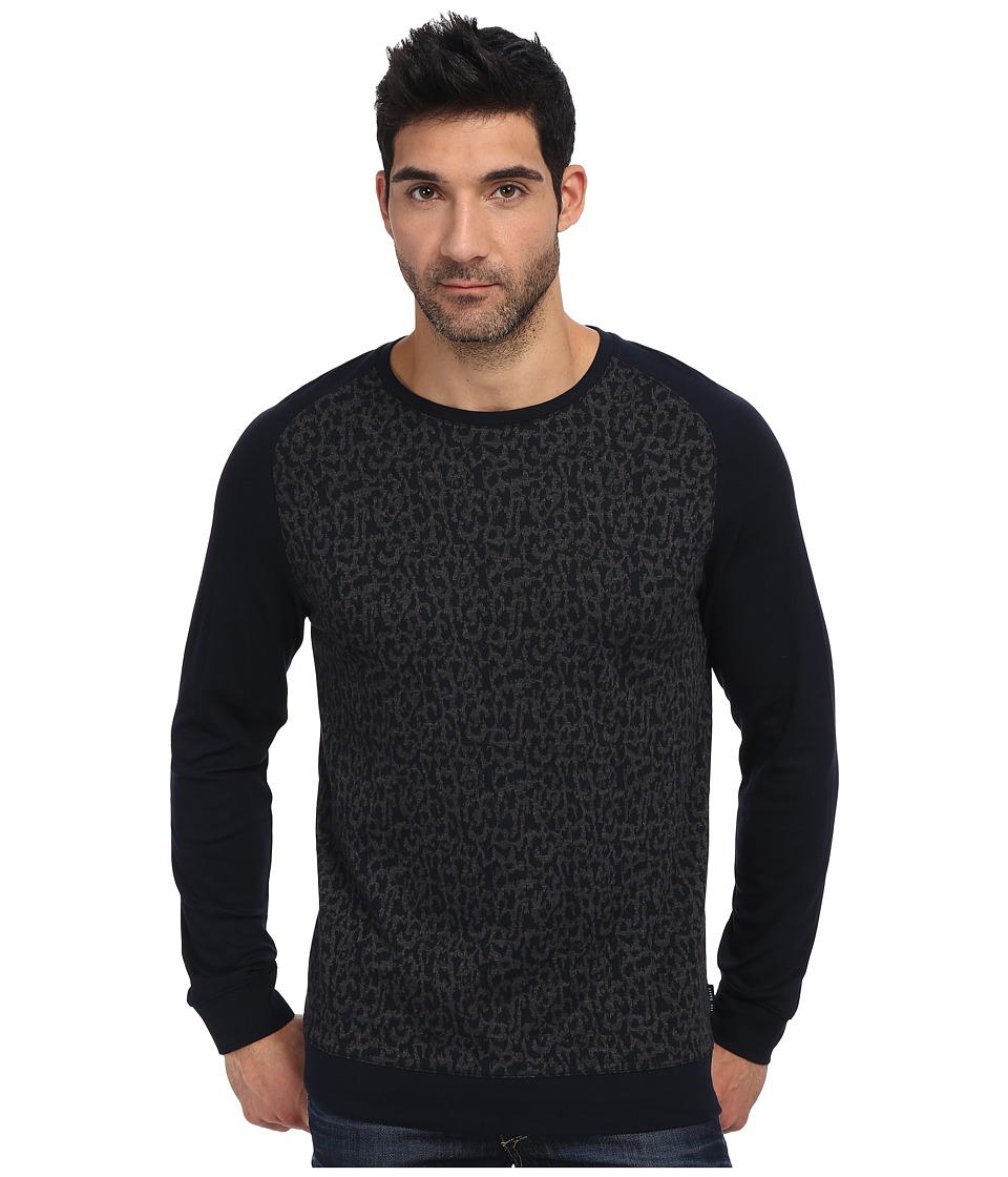 Ted Baker - Kenn L/S Printed Sweatshirt (Navy) Men's Sweatshirt
