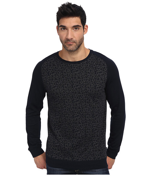 Ted Baker - Kenn L/S Printed Sweatshirt (Navy) Men