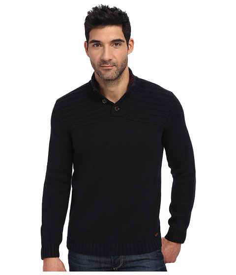 Ted Baker - Harston Stitch Detail L/S Funnel Neck (Navy) Men