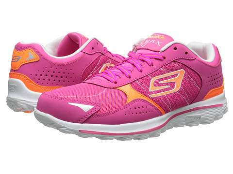 SKECHERS Performance - GO Walk 2 Golf - Lynx (Pink/Orange) Women's Shoes
