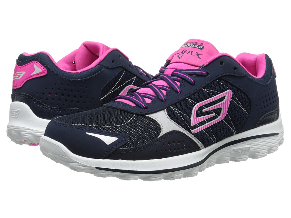 SKECHERS Performance - GO Walk 2 Golf - Lynx (Navy/Pink) Women's Shoes
