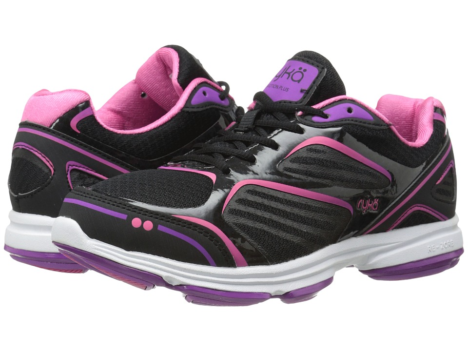 Ryka Devotion Plus (Black/Cool Mist Grey/Bright Violet/Hot Pink) Women