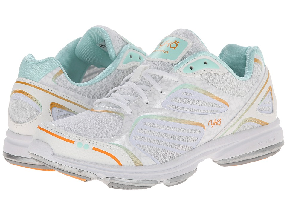 Ryka - Devotion Plus (White/Orange Ice/Mint Ice/Vapor Grey) Women's Shoes