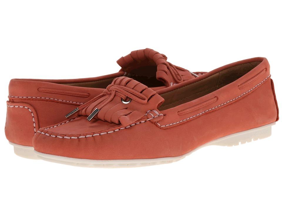 Sebago - Meriden Kiltie (Coral Leather) Women's Shoes