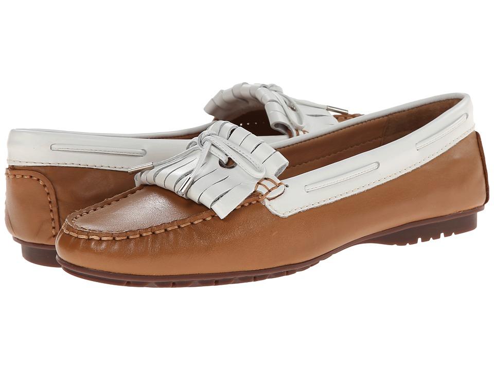 Sebago - Meriden Kiltie (Tan/White Leather) Women's Shoes