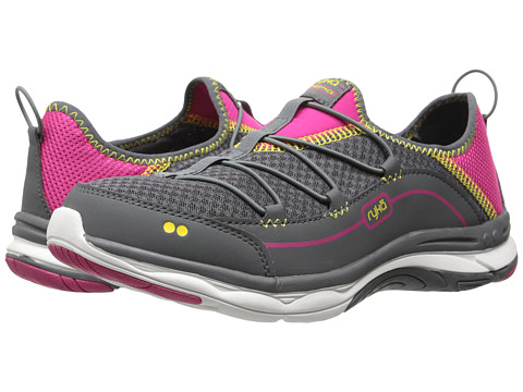 Ryka - Feather Pace (Iron Grey/Ryka Pink/Process Magenta/Cyber Yellow) Women